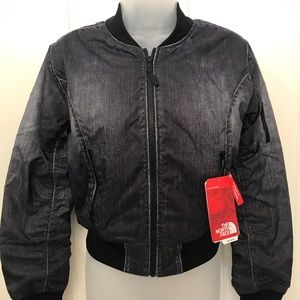NEW wTag-The NORTH FACE Black Zip Crop Jacket XS